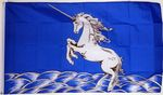 UNICORN (BLUE & WHITE) - 5 X 3 FLAG
